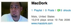 My Last.fm play count