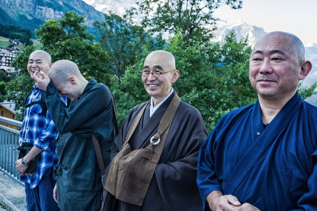 A medley of merry monks prepares to visit the Mönch and the Jungfrau