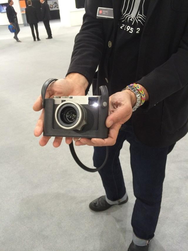 Photographer Michael Agel displays his new Leica M60 Edition at Photokina 2014