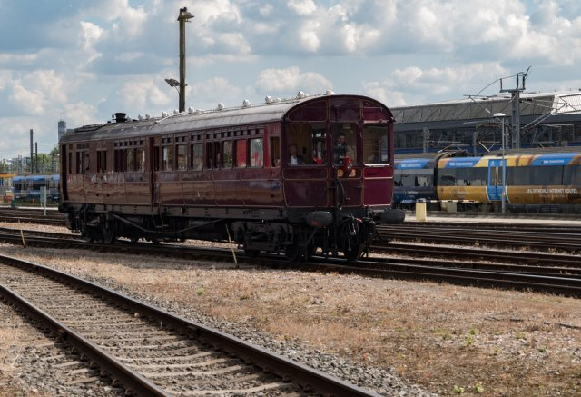 Free rides on this restored Steam Railmotor, constructed at the Didcot Railway Museum   —another fascinating place to visit along the length of the Great Western Railway