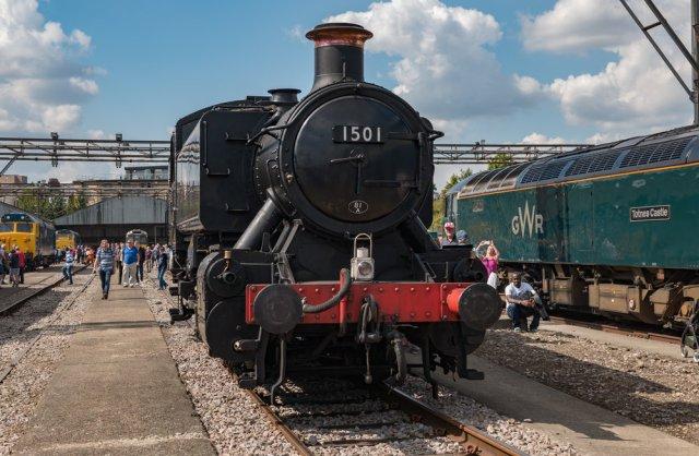 The GWR-designed 0-6-0 pannier steam locomotive , one of ten built in 1949
