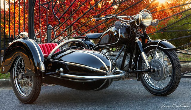 If you fancy a vintage BMW and Steib sidecar, the classic combination, where better to go than Bluemooncycle.com. You can even buy new Steib sidecars here