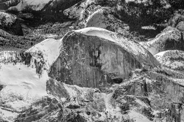 The more traditional view of Half Dome, as would be seen from the Valley Floor