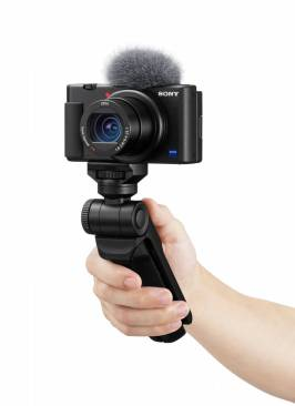 The new Sony with its special hand grip, just the job for a bit of impromtu street vlogging
