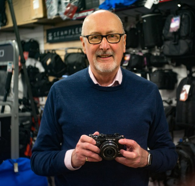 Mike with the Olympus PEN-F in 2016. Will it be a PEN-branded camera in 2021?