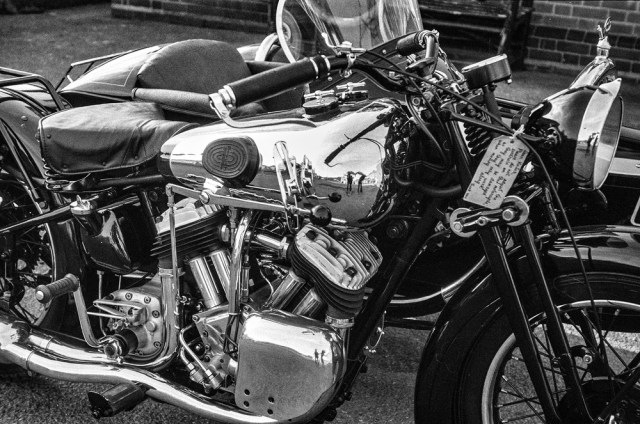 In its heyday: The Brough Superior through the f/3.5 Elmar of a 1935 Leica IIId. Those were the days...