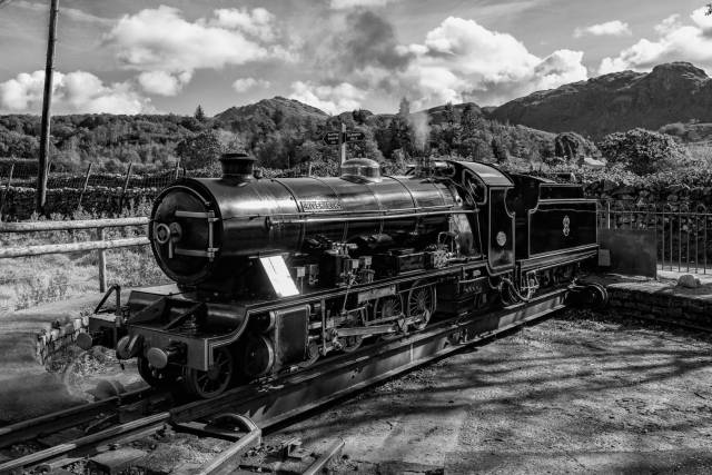 """""""River Esk"""" at Dalegarth station on the Ravenglass & Eskdale Railway, taken with the Leica Q2 and processed in Silver Efex Pro 2 (Mike Evans)"""