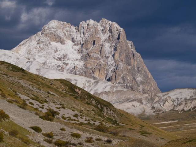 Corno Grande, south-east side, from the road leading to Campo Imperatore