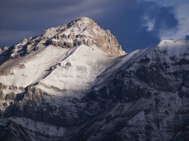 Southeast side of Pizzo Cefalone bathed in the sunrise light