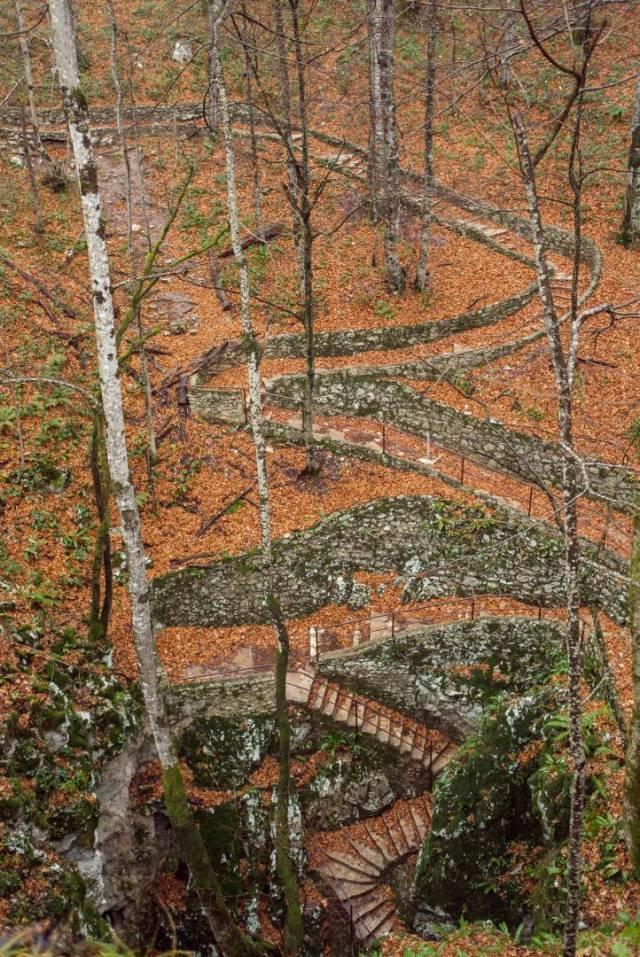 The steps to Šupljara cave. X1