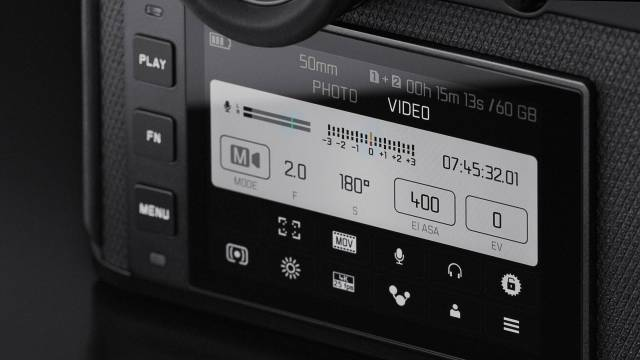 The new quick menu, found on other models such as the CL and Q2, differentiates between video, as here...