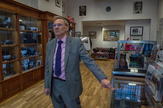Richard in his decidedly up-market photographic store in the heart of London's Mayfair (Image Mike Evans, 2105)