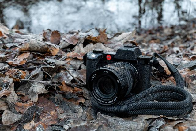 The SL2-S is distinguished by its stealthy all-black Leica branding. Shame about the red dot, but Leica enthusiasts will love the overall impression created by this new camera