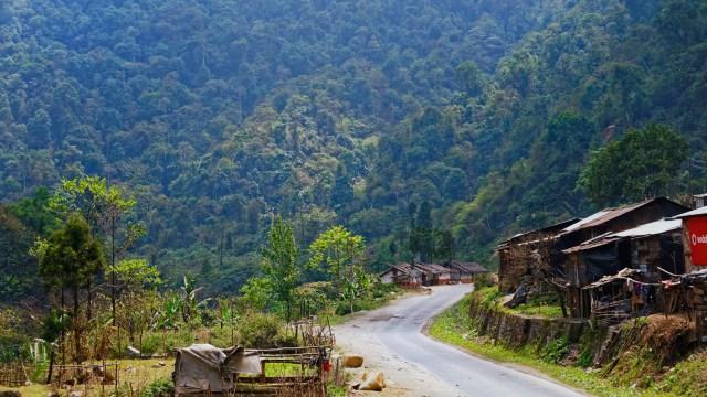 The road to Tawang passes through the Orchid Sanctuary at Sessa