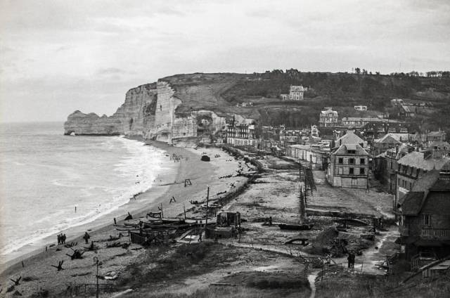 The town of Etretat, France after D-Day