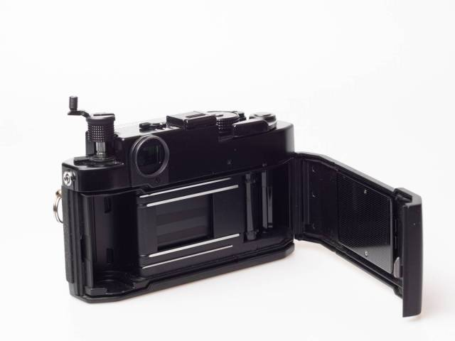 Load your film into a rangefinder camera in contemporary way.