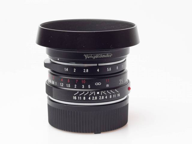 The beautiful hood also fits many Zeiss lenses.