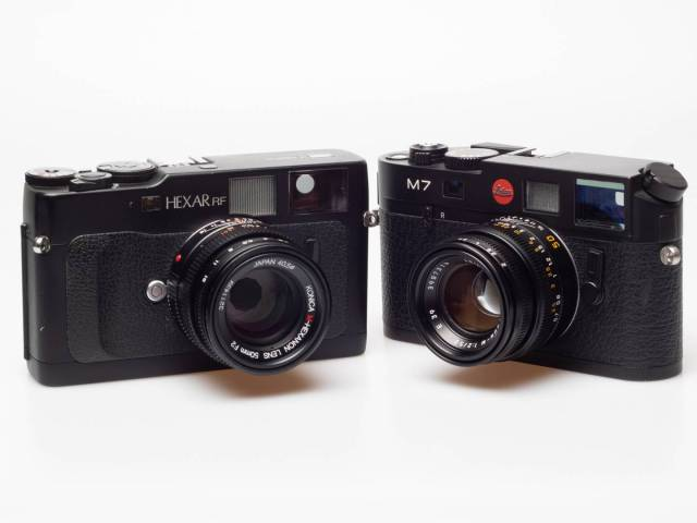Is the Konica Hexar RF the camera that the Leica M7 should always have been? In tech specs probably yes