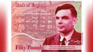 So rare is the Bank of England's £50 note that I had completely forgotten that it features Alan Touring. Pity, I'd have enjoyed using this note