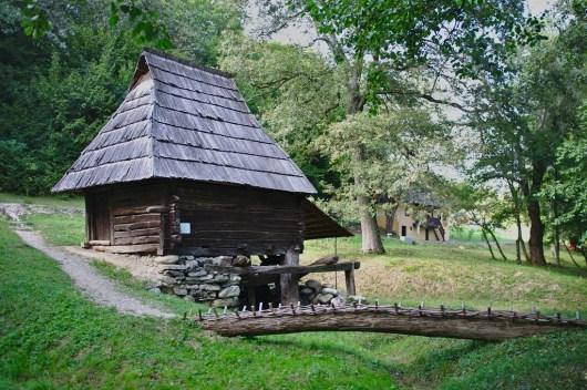 Traditionelles Haus im historischen Museum