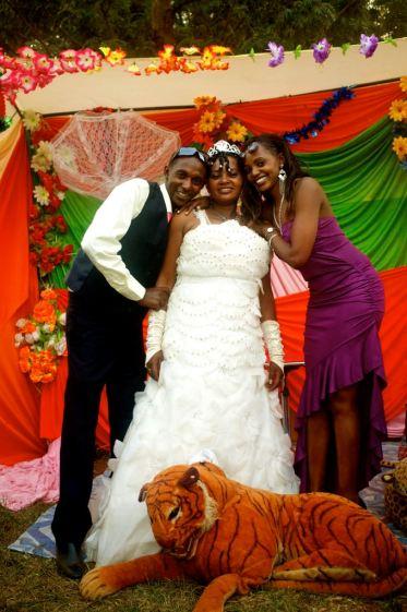Die Braut samt Geschwister