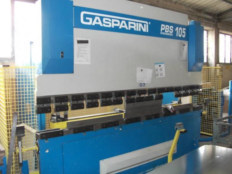 Pressa piegatrice idraulica Gasparini mod. PBS105 usata in vendita