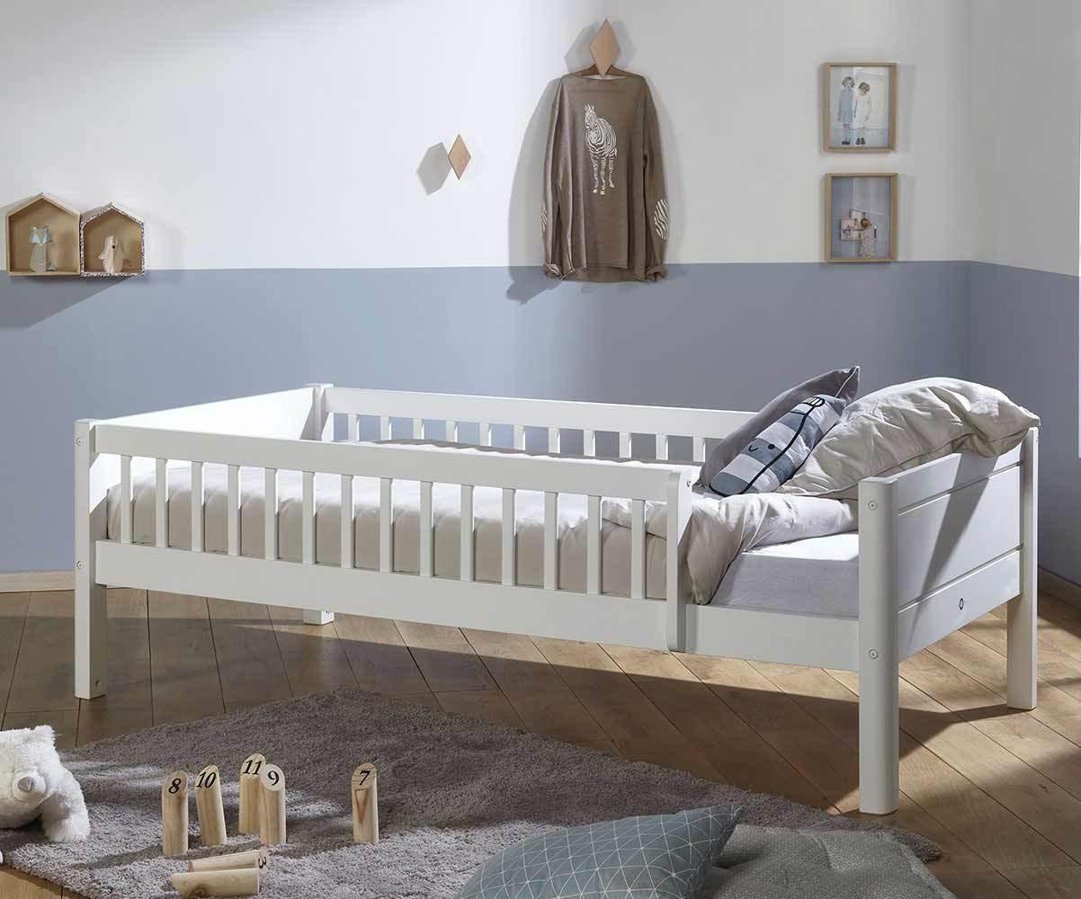 lit enfant avec barrieres sommier et matelas rio