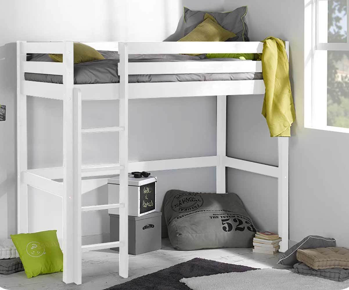 lit adulte mezzanine avec matelas cargo