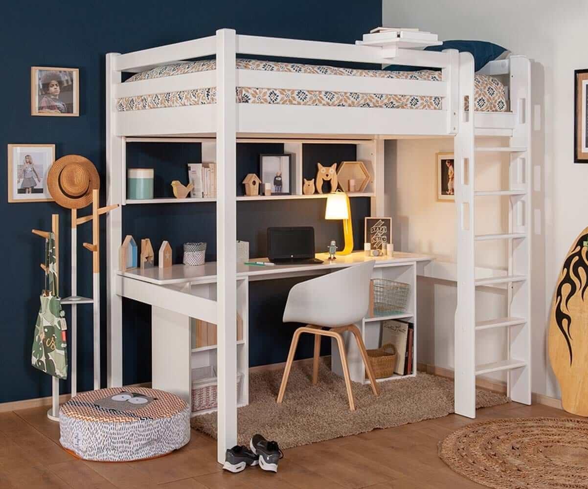 lit mezzanine enfant avec bureau cancun