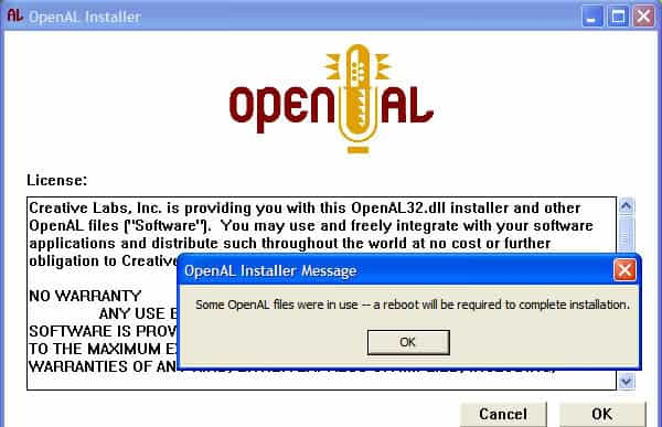 openal32.dll missing