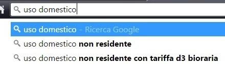 Google autocompleta uso domestico con non residente. Questo implica che la ricerca è stata condotta molte volte da molti utenti.