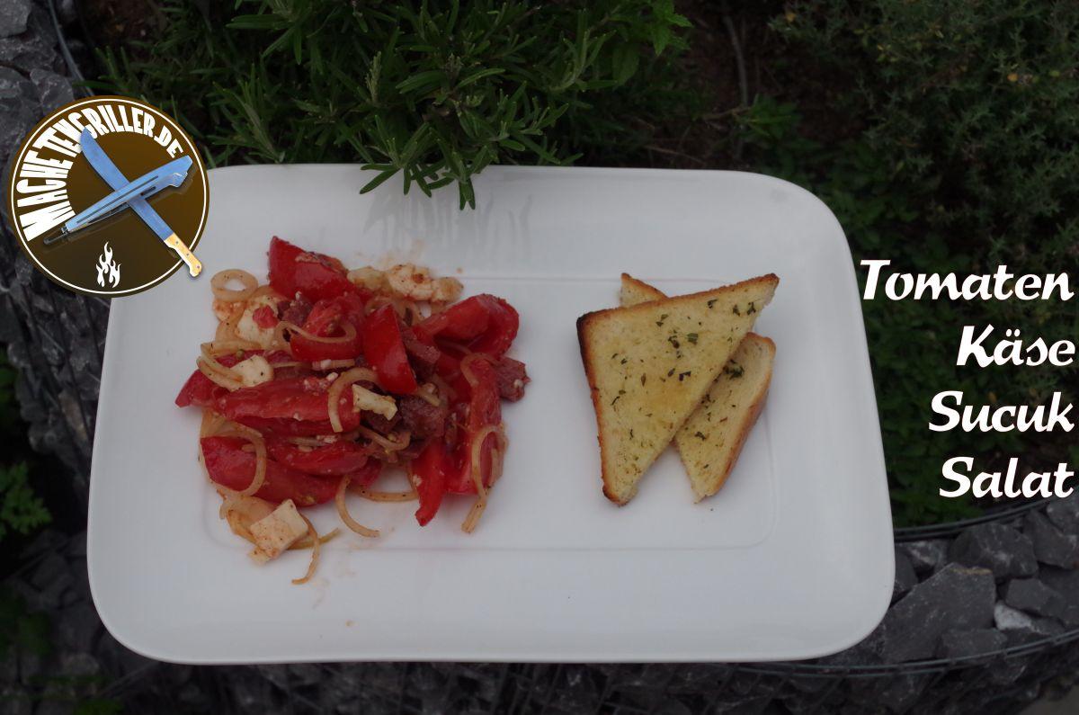 Tomaten Käse Sucuk Salat