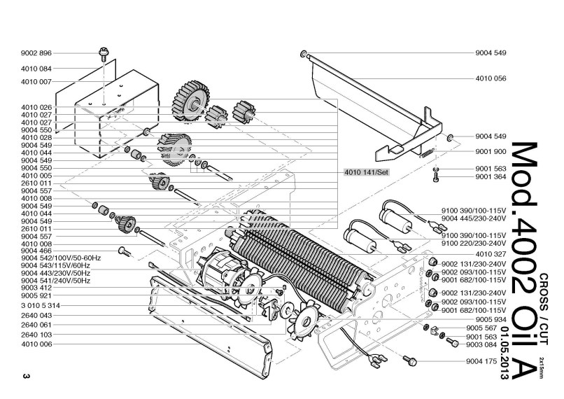 Fellowes Paper Shredder Parts Manual
