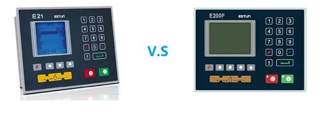 Press Brake Controller E21 vs E200P