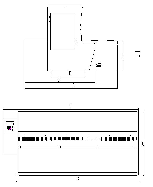 Hydraulic shearing machine structure drawing