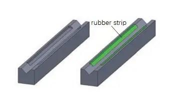 rubber strip V die