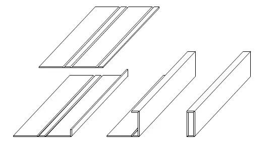 V-grooving bend forming process