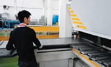 CNC folder folding car wall