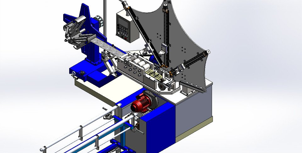 Sheet Metal Spiral Forming Machine
