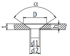 Dimensions of Counterbore Holes for Hole Countersunk Rivets