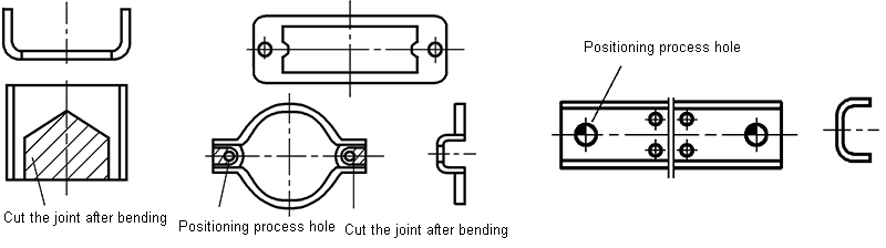 Add connection straps and positioning process holes
