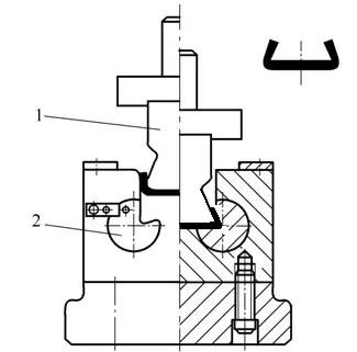 Closed angle bending die-2