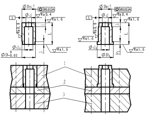 Combined die structure and fixing method