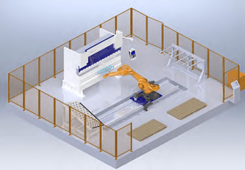Overall layout of the press brake bending cell