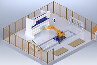 Robotic Press Brake Bending Cell