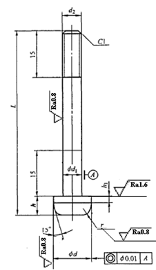 Structure and fixing method of standard C guide pin