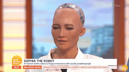 Robot Sophia who once threatened to destroy humans