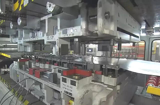 Progressive die automation method