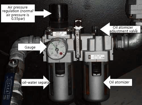 oil atomizer automatic lubrication