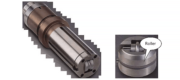 upper die of the roller cutting tool